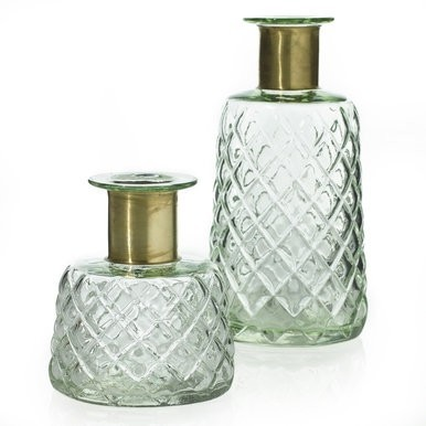 Audrey Glass & Brass Bottle
