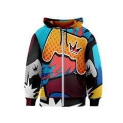 PS4 Comic Crown Kids Zipper Hoodie