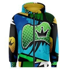 Xbox Comic Crown Men's Zipper Hoodie