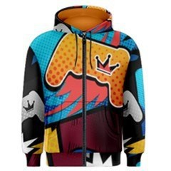 PS4 Comic Crown Men's Zipper Hoodie