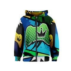 Xbox Comic Crown Kids Zipper Hoodie