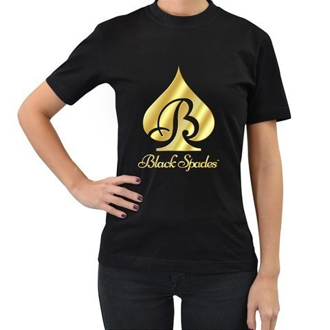 Black Spades Graphic Logo Tee - Women