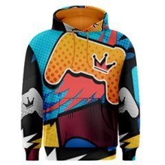 PS4 Comic Crown Men's Pullover Hoodie